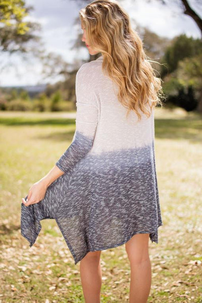 Springy Lightweight and Airy Blue Ombre Tunic-Dresses-Lotus Boutique-Lotus Boutique