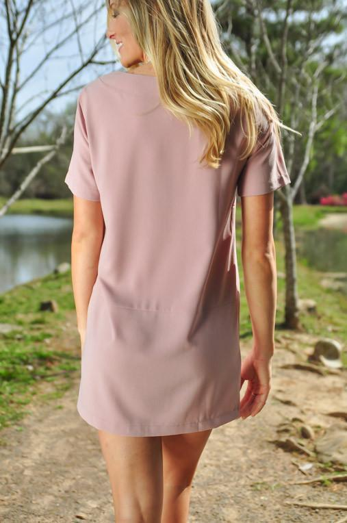 Dresses You're the One Dusty Rose Shift Dress - Lotus Boutique