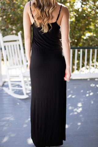 Summer is Calling Black Maxi Dress