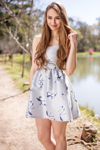 Dress Open Your Heart Floral Fit And Flare Dress - Lotus Boutique