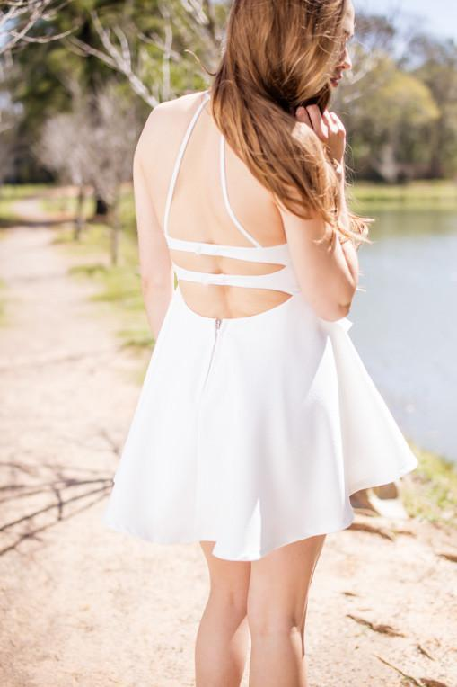Dress Pleasantly Surprised White Layered Fit And Flare Dress - Lotus Boutique