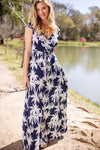 Dresses Salty Breeze and Swaying Palm Trees Maxi Dress - Lotus Boutique