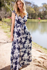Salty Breeze and Swaying Palm Trees Maxi Dress