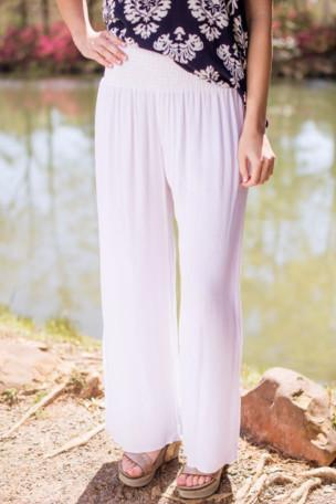 White As Snow Wide Leg Pants