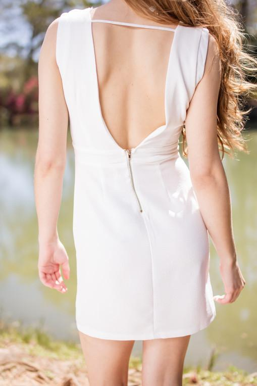Dress Breath Of Fresh Air Deep V Back Dress - Lotus Boutique
