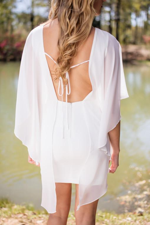 Dress Angel of Love White Flutter Front Dress - Lotus Boutique