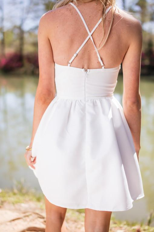 Dress Nothing Is Better White Silky Fit And Flare Dress - Lotus Boutique