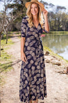 Party In Pineapple Maxi Dress-Dress-Lotus Boutique-Lotus Boutique