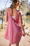 Dresses Pink and You Miss It Pink Plaid Dress - Lotus Boutique