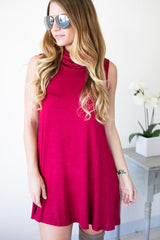 Go With The Times Cowl Neck Dress