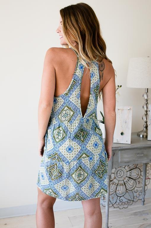 Dresses Nature's Best Dressed Open Back Dress - Lotus Boutique