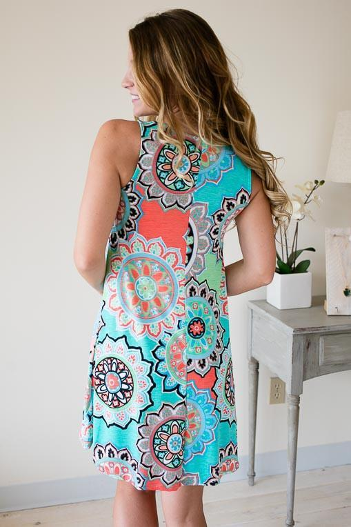 Dresses You Deserve A Medallion Mint Dress - Lotus Boutique
