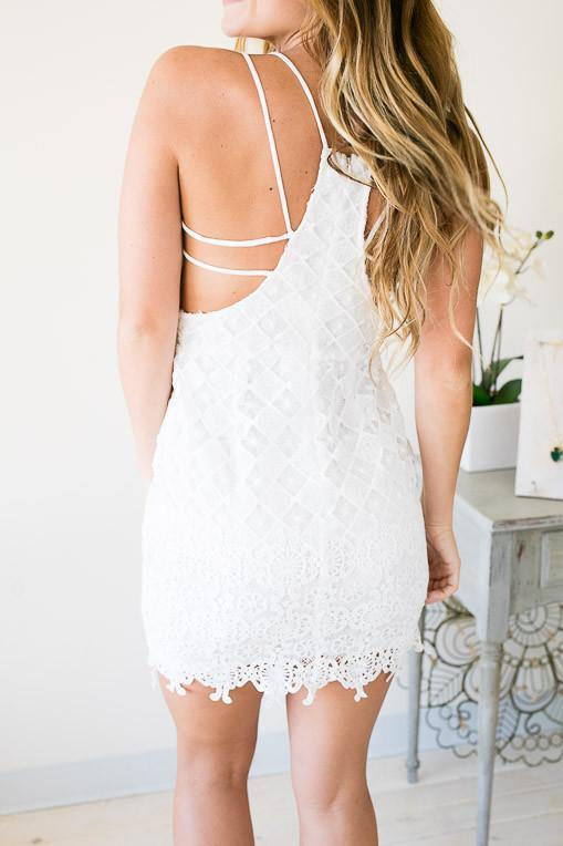 Dresses Picture Perfect White Dress - Lotus Boutique