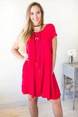 One Hand In My Pocket Dress - Red