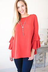 The Good Stuff Ruffle Sleeve Top