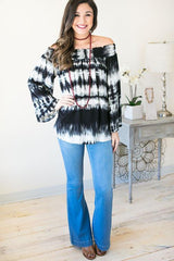 Make It Tie Dye Off the Shoulder Tunic