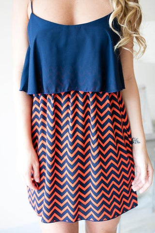 War Eagle Chevron Strappy Dress