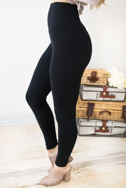 The Best Tummy Slimming Fleece Leggings-Bottoms-Lotus Boutique-Lotus Boutique
