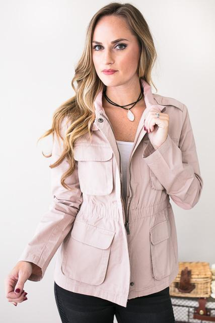Walk Together Blush Utility Jacket
