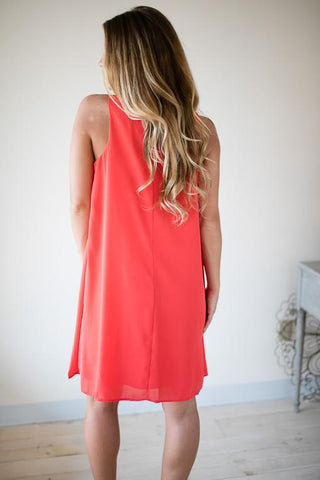 Ripe Tomato Swing Dress