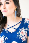 Accessories Lust For Life Gold Stud Periwinkle Beaded Tassels - Lotus Boutique