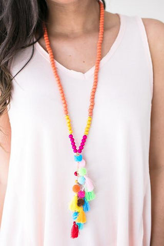 Real Style Pom Tassel Necklace