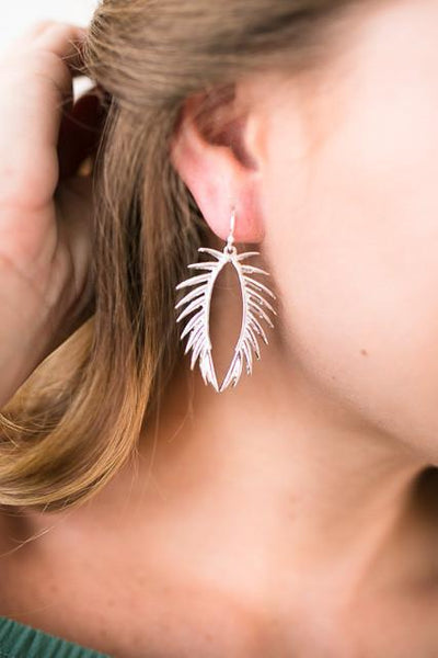 Accessories Supercut Silver Leaf Earrings - Lotus Boutique