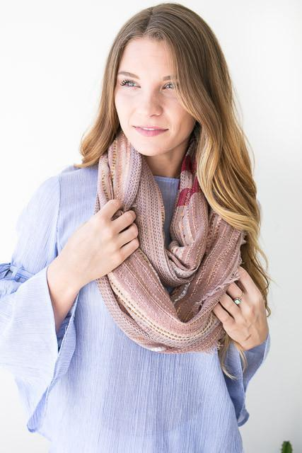 Take this Rose Threaded Scarf