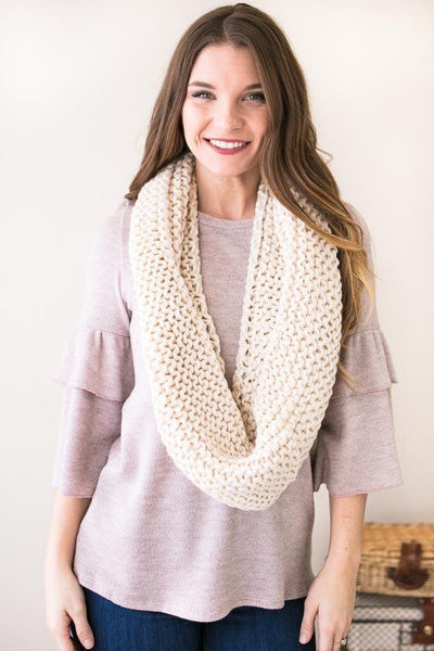 Accessories To Infinity And Beyond Weave Knit Scarf - Lotus Boutique