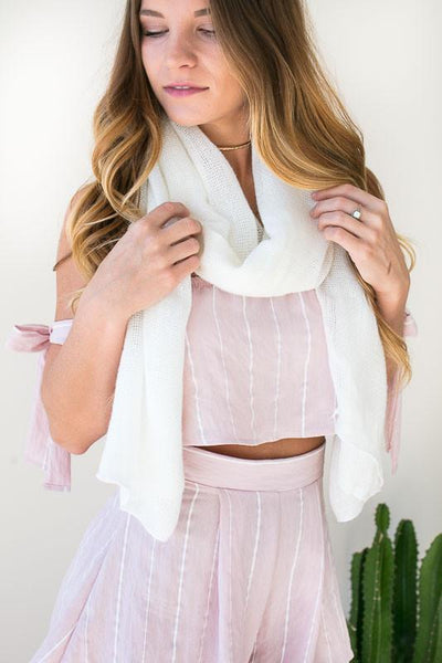Accessories White Desire Light Weight Scarf - Lotus Boutique
