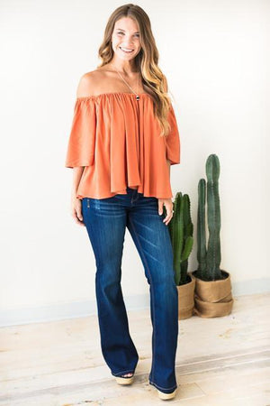 Bottoms - Can't Let Go Shaded Flare Jeans