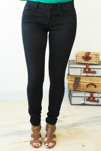 Bottoms High Roller Black Skinny Jeans - Lotus Boutique