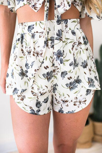 Bottoms - Into The Wild Floral Matching Set - Shorts