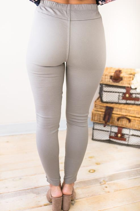 4af51a707a28cb Bottoms One More Round Light Grey Moto Leggings - Lotus Boutique