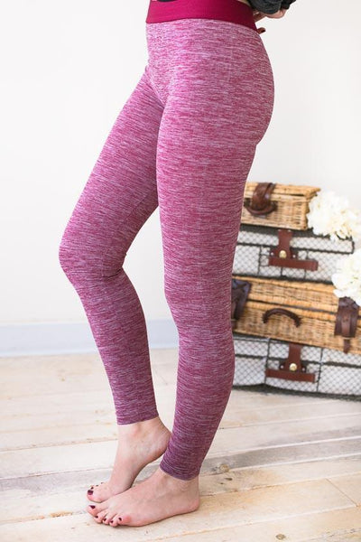 Bottoms - Take A Lap Raspberry Athletic Leggings