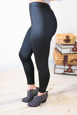 This or That Faux Leather Leggings