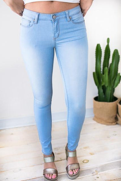 Bottoms Unforgettable Light Wash Skinny Jeans - Lotus Boutique