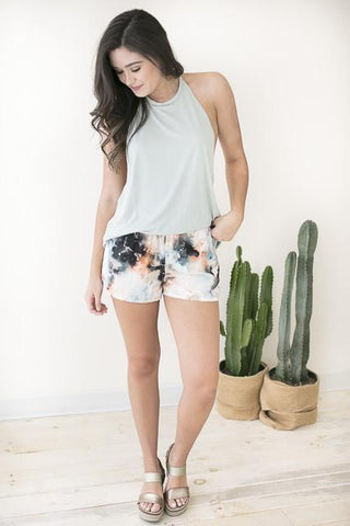Western Watercolor Print Shorts