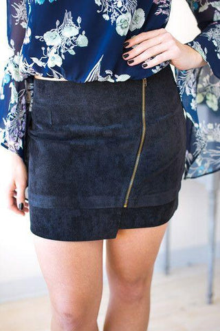 Over and Over Corduroy Mini Skirt