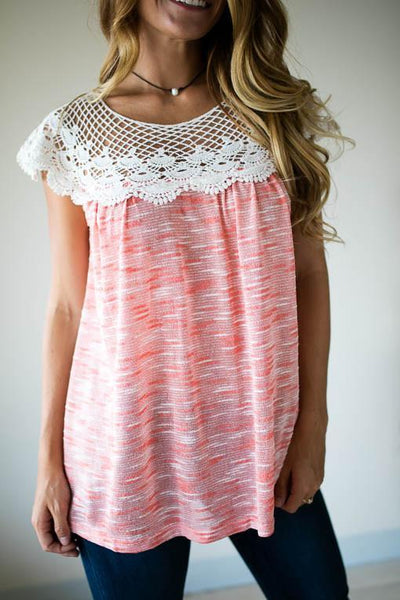 Tops I'd Like You Better In This Lace Detailed Top - Lotus Boutique