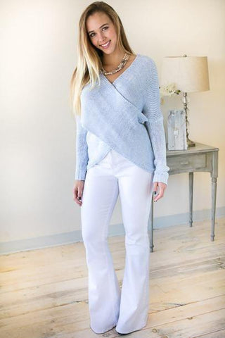 Cross My Heart Powder Blue Sweater