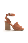 Sweet Lovely Preforated Chunk Heel Sandal