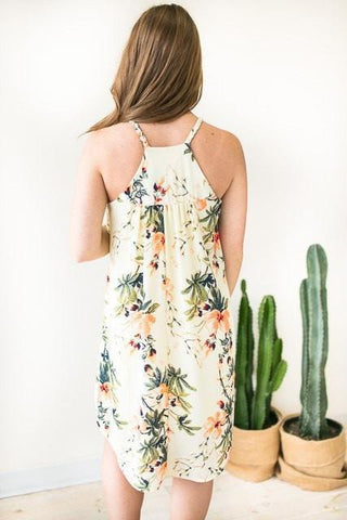 Be In Bloom Braided Strap Floral Dress
