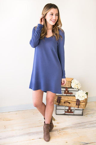 Bet My Heart Blue T Shirt Dress