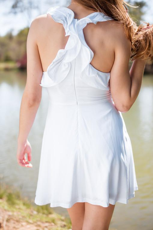 Dresses Brightest Most White Ruffle Dress - Lotus Boutique