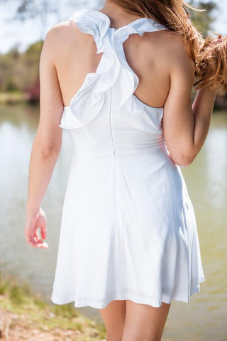 Brightest Most White Ruffle Dress