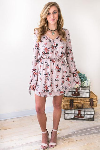 Catch That Swiss Dot Floral Dress