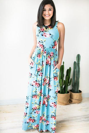 Dresses - Every Summer Floral Maxi Dress
