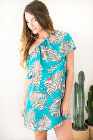 Island in the Sun One Shoulder Dress