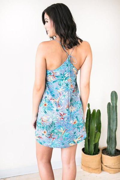 Dresses Just Like You Tropical Print Dress - Lotus Boutique